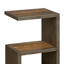 Table d'appoint manguier et métal 40x30 Harold