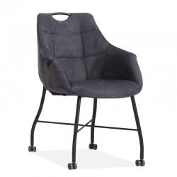 Lot de 2 chaises design en tissu Promy