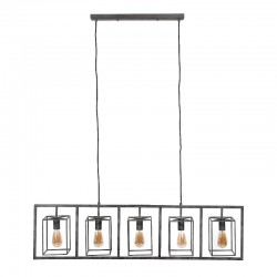 Suspension design 5 abat-jours cubiques suspendus