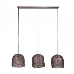 Suspension design 3 abat-jours en fil de fer
