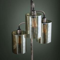 Lampadaire 3 abat-jours en verre suspendus