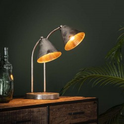 Lampe de table 2 spots style industriel contemporain