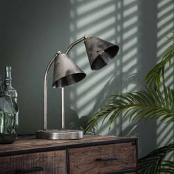 Lampe de table 2 spots style industriel contemporain