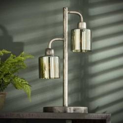 Lampe de table design 2 abat-jours en verre