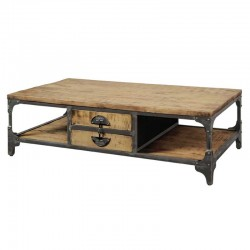 Table basse en manguier 135x75 bastos