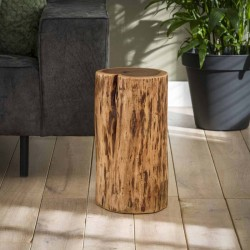 Table d'appoint tronc d'arbre Ø30