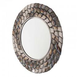 Miroir rond en métal 65 cm diamètre