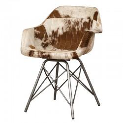 Chaise design en cuir Karma