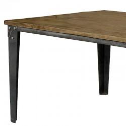 Table à manger en bois de manguier couleur miel 180 Bastos