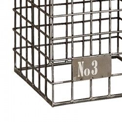 Tabouret en cuir et métal 40 Karma