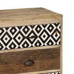 Table de chevet en bois 3 tiroirs 50 Karma