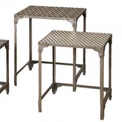 Ensemble 3 tables basses rectangulaires en bois