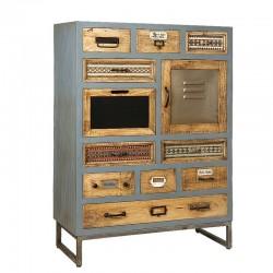 Armoire en bois métal 10 tiroirs 90 karma