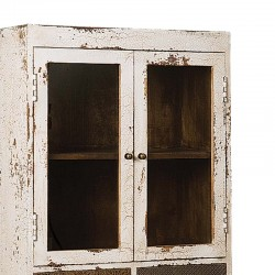 Armoire vitrine en bois 2 portes 65 Karma