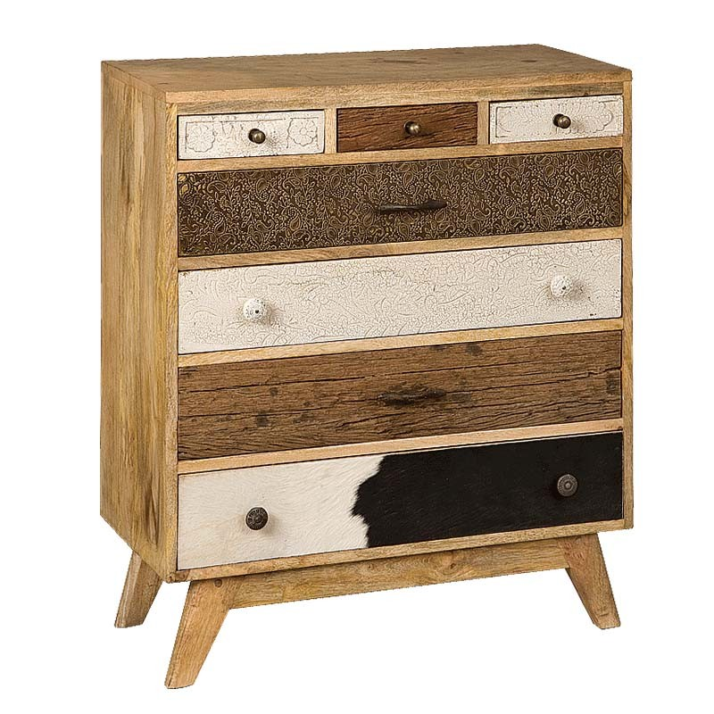 Armoire en bois 7 tiroirs 70 karma