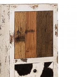 Armoire en bois 1 porte 3 tiroirs 50 Karma