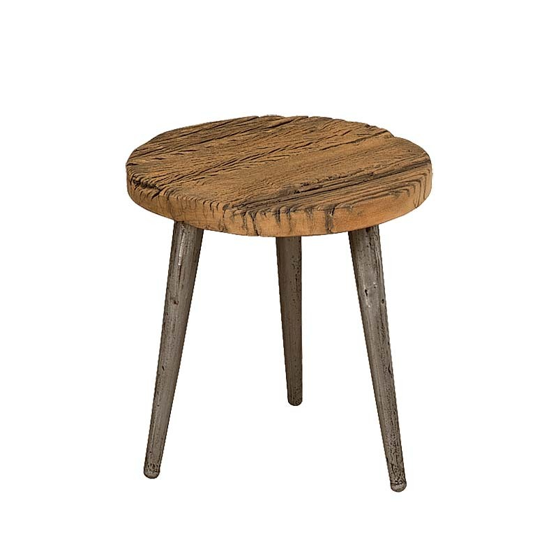 Table basse ronde en bois Karma