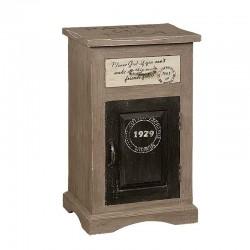 Table de chevet brune en bois 1 tiroir 35 Karma