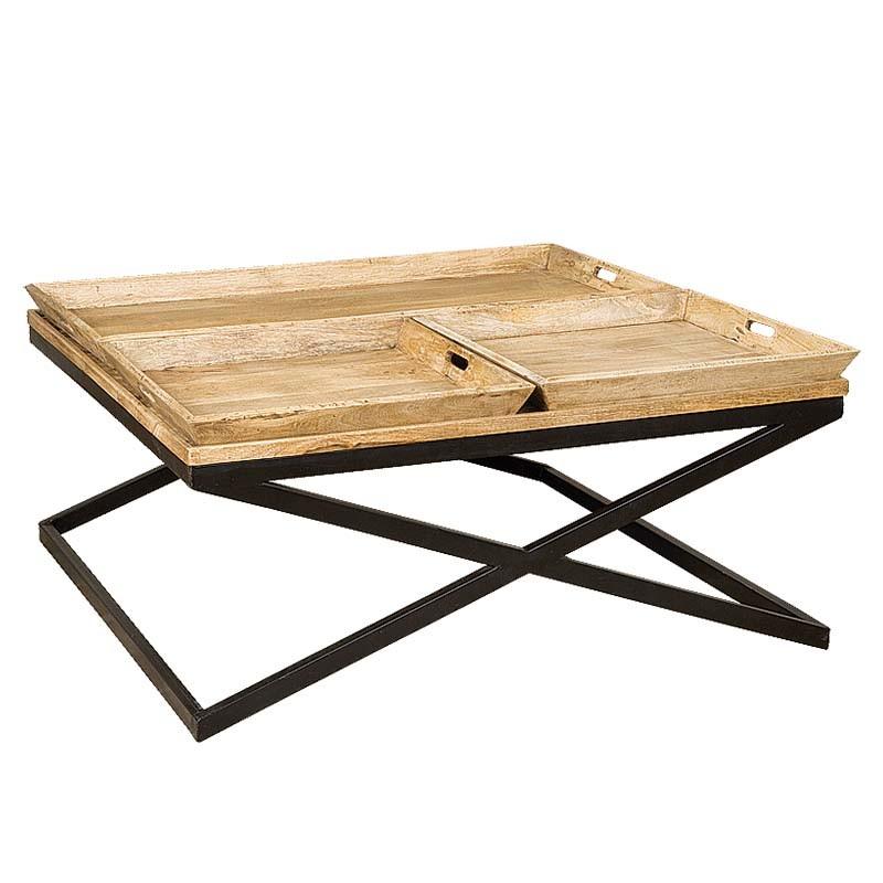 Table basse bois et métal 120 Karma