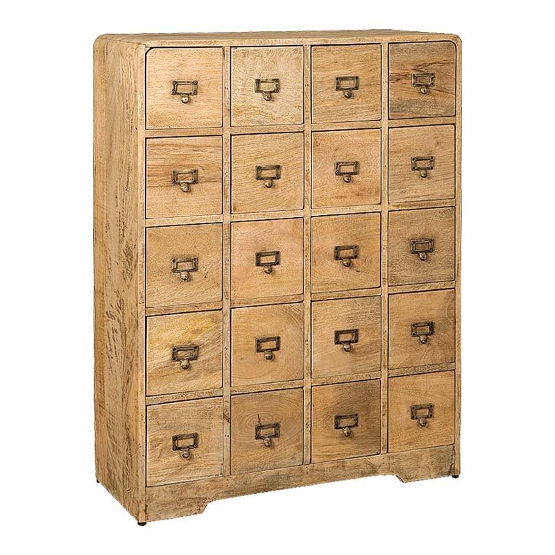 Armoire en bois 20 tiroirs 80 Karma