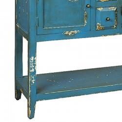 Console en bois 2 portes 4 tiroirs 120 Karma