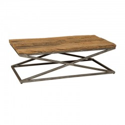 Table basse bois recyclé et métal 130 Karma