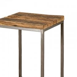 Ensemble table basse bois et métal 40 Karma