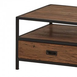 Table basse carrée teck et métal 60 Komos