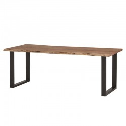 Table à manger en acacia et métal Fraya