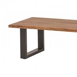 Table basse en acacia et métal Fraya