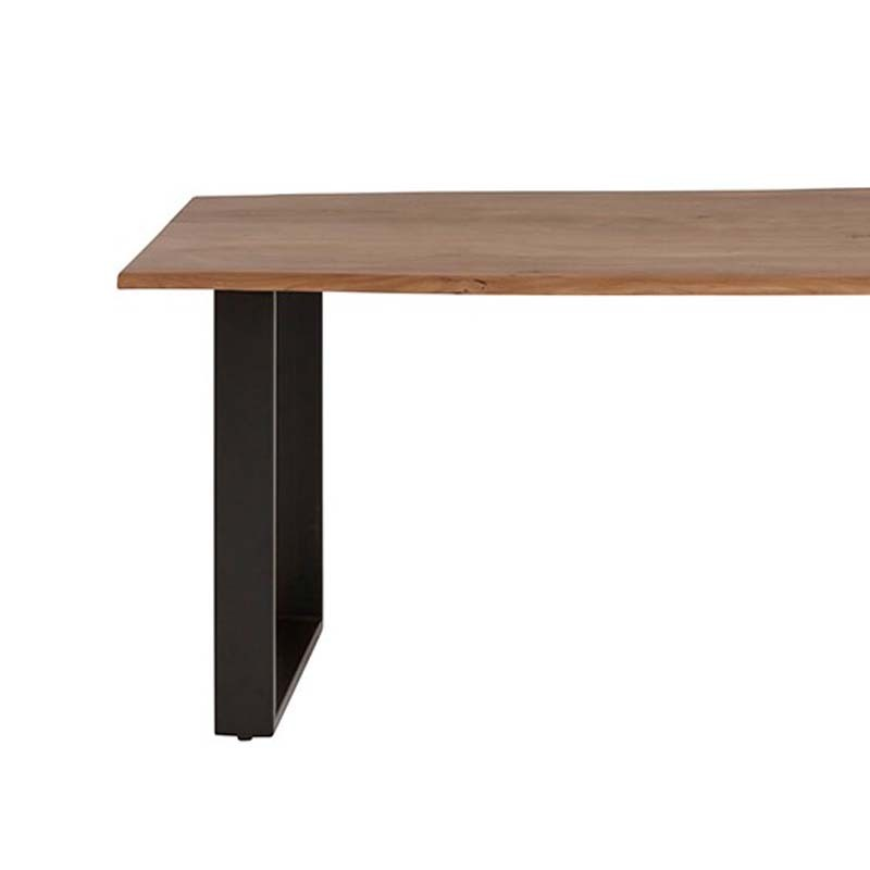 table à manger acacia et métal jaros dimension 180x90
