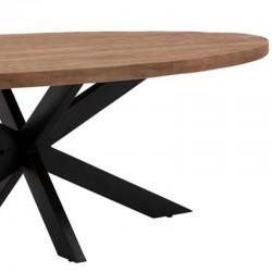Table à manger manguier et métal Pera