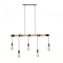 Suspension 5 ampoules suspendues à un tube en bambou
