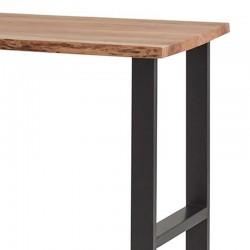 Table de bar en acacia et métal Nibels