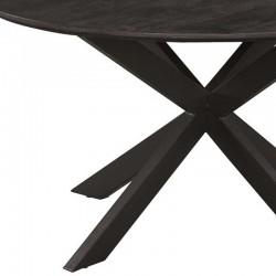 Table à manger ronde en manguier et métal Kolomby
