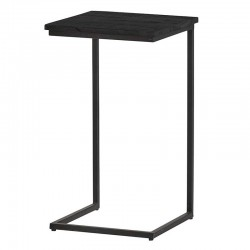 Table d'appoint carrée manguier et métal 40 Bonsy