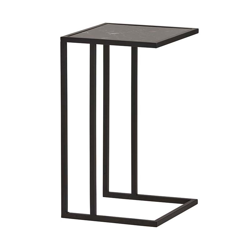Table d'appoint marbre et métal 40 Mabel