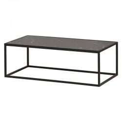 Table basse marbre et métal 120 Mabel