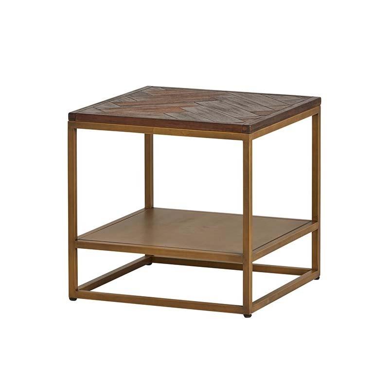 Table d'appoint acacia métal 50 Meta