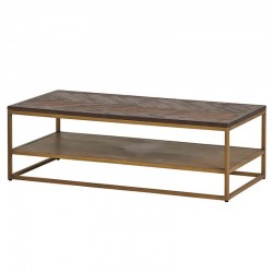 Table basse acacia métal 120 Meto