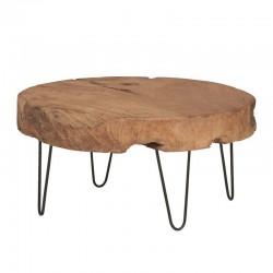 Table basse tronc d'arbre 80 Natta