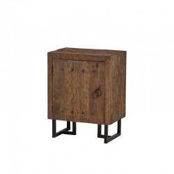 Armoire 1 porte bois et métal 70 Pura