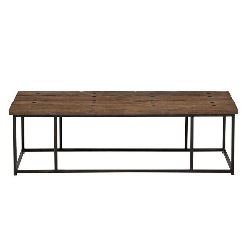 Table basse rectangle bois et métal 150 Pura