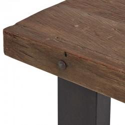 Table à manger en bois et métal Raily
