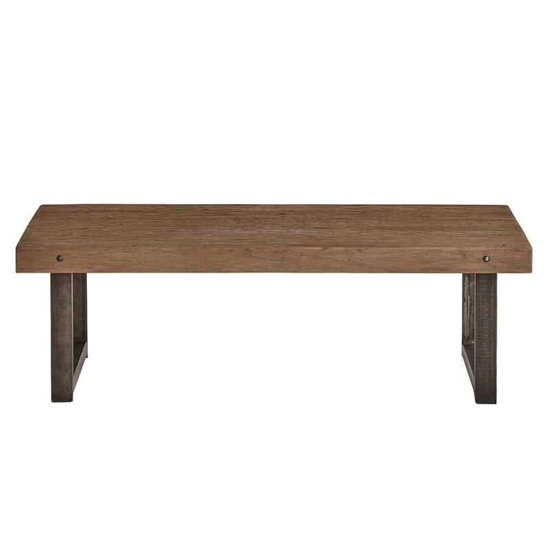 Table basse en bois et métal Raily