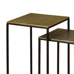 Ensemble 2 tables basses carrées 30 Megara