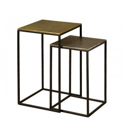 Ensemble 2 tables basses carrées 30 Megara
