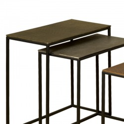 Ensemble 3 tables basses rectangles 43 Megara