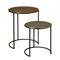Ensemble 2 tables basses rondes 42 Megara
