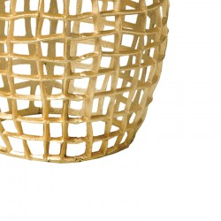 Table basse ronde dorée Megara